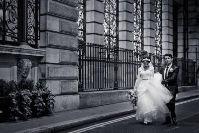 London street wedding phototraditional afghan wedding film and photography | Gibson Hall venue London